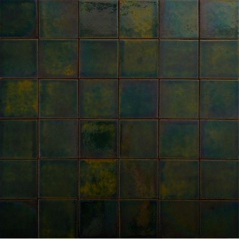 Rustykalne płytki ścienne 10x10, zieleń butelkowa a moze wprowadzić do łazienki jakos minimalnie trwały kolor