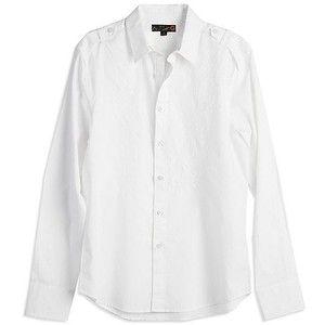 White Button Up Mens Shirt