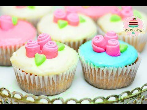 CUPCAKES 3 LECHES CON HARINA DE HOT CAKES | PARA MAMÁ | MIS PASTELITOS - YouTube