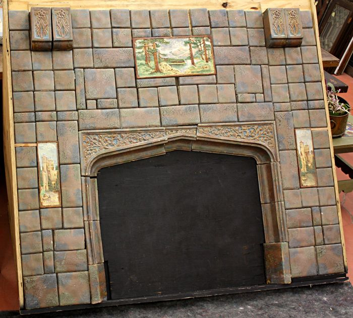 Calco Tile Fireplace Surround Architectural Salvage