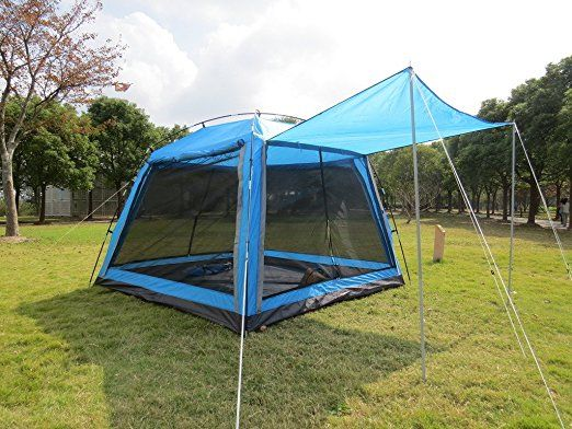 7. Hasika All-Weather Diversified 8 x 8 Instant Screened Canopy