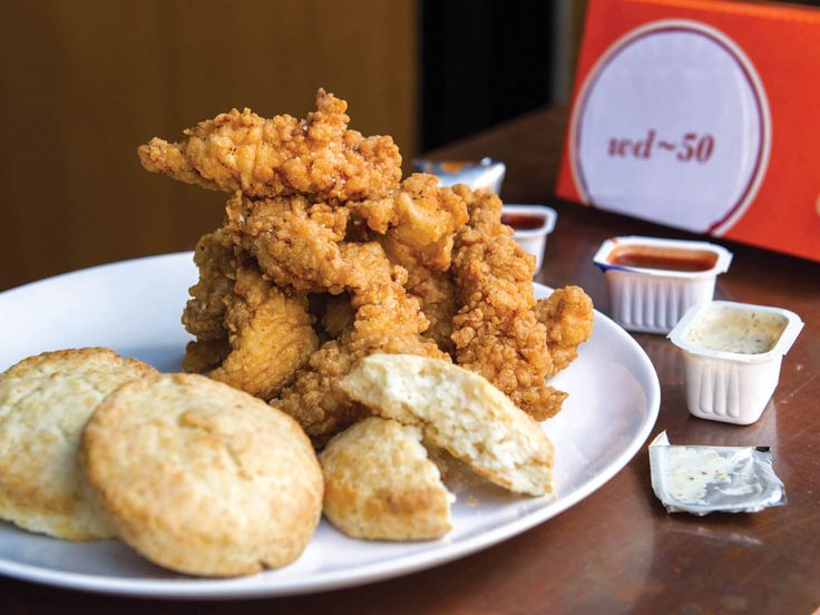 Fried chicken #recipe: Popeyes-style chicken tenders and biscuits