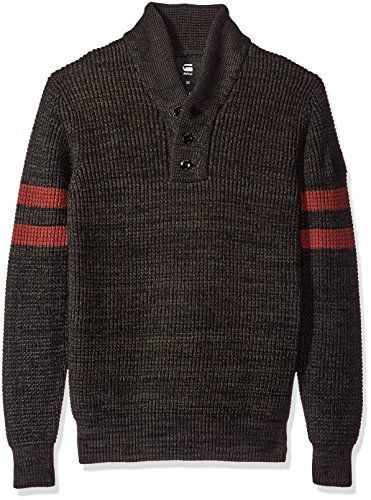 Product review for G-Star Raw Men's Dadin Sport Shawl Collar Sweater.  With chunky stripes and a richly textured structure, this cotton knit is packed with archive sportswear style. A button-up shawl collar defines the neck. While a small felt patch accents one sleeve. Throw it on over a tee for relaxed days.   	 		 			 				 					Famous Words of...
