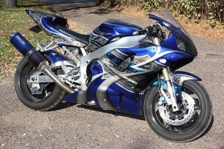 Custom Painted Yamaha R1000.  Sold to a collector in the Bahamas.
