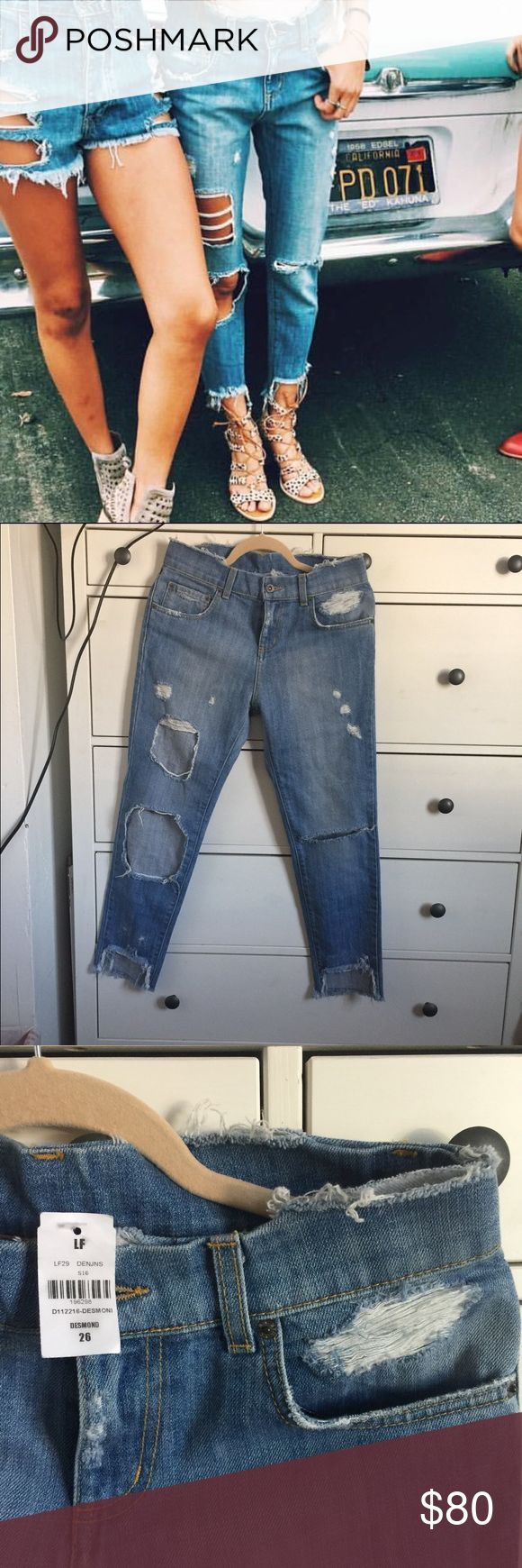 LF Carmar Desmond Denim Jeans Sz 26 New with tags. Denim carmar jeans. Desmond style with intentional distressing all around. Size 26 but i think they run small. 20% cheaper via Mercarí or Paypál. No trades. LF Jeans