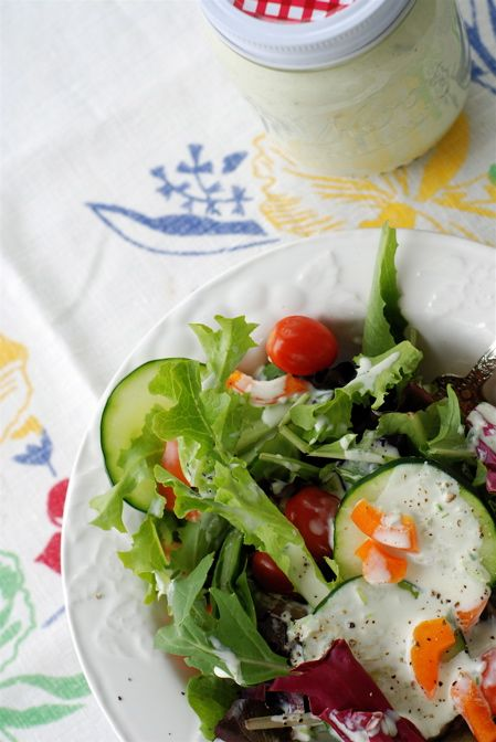 delicious, creamy, buttermilk icebox dressing for those baby greens ...