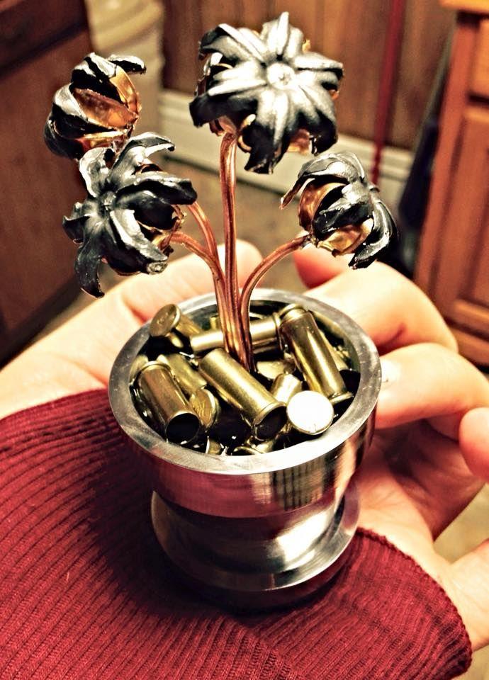 hollow point bullet flower pot