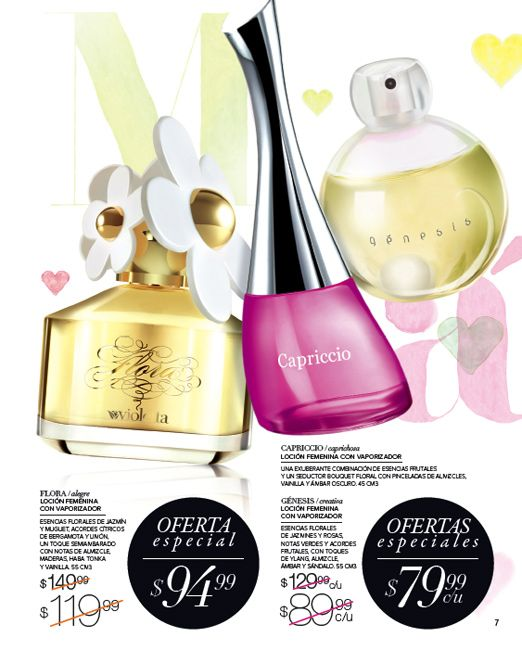 Perfume Capriccio . Perfume Flora . Perfume Genesis .