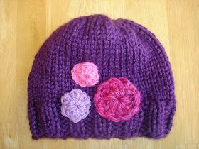 Pin It Her Royal Highness Hat By Jennifer Dickerson Knitted in the round in a deep royal purple, your little queen will e...