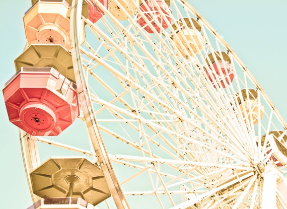 Vintage ferris wheel print $25.00.  I need a collection of these!