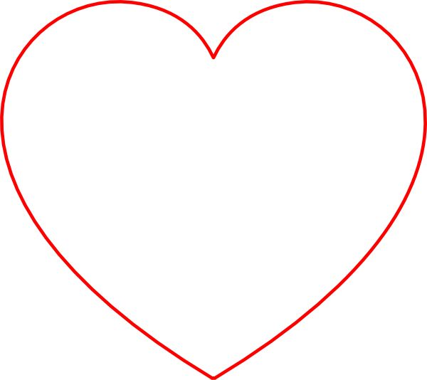 Red Heart Thin Outline - Google Search