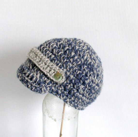Baby Boy Newsboy Hat Newborn Hat Baby Crochet Hat by recyclingroom, $18.00