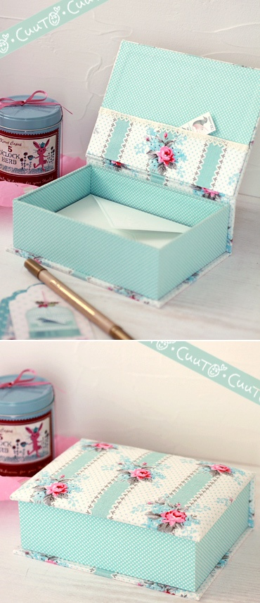 postcard box- candy box