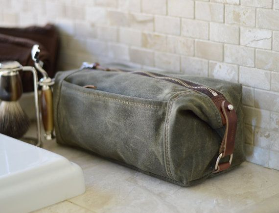 Black Cotton Laundry Bag: Personalized Expandable Toiletry Dopp Kit With 3 Pockets