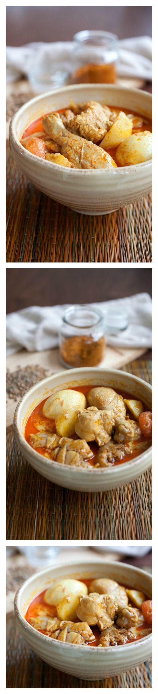 Easy Chicken Curry Recipe. DELICIOUS and can be made with easy-to-get ingredients at regular stores. Once you try this curry, you will want more | http://rasamalaysia.com