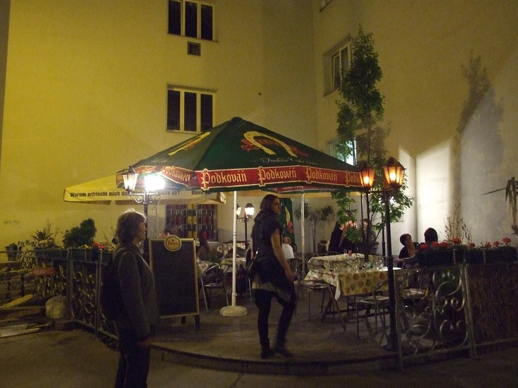 Here they offering Czech beer from small brawery Podkováň, surprise, in a Prague isn´t possible to see that.-)