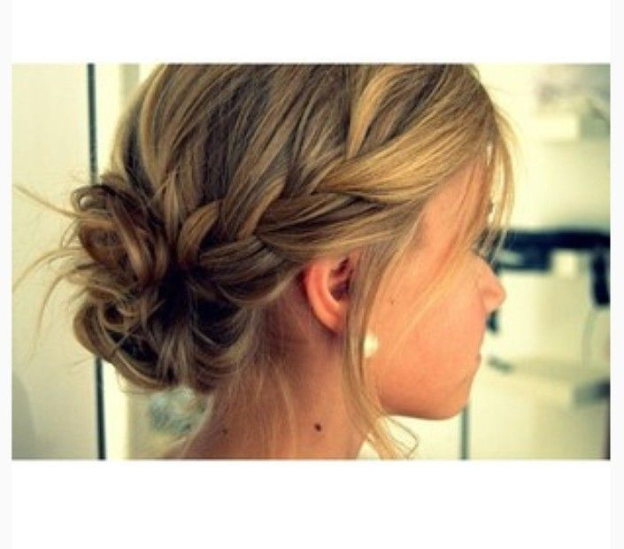 loose and messy braided bun