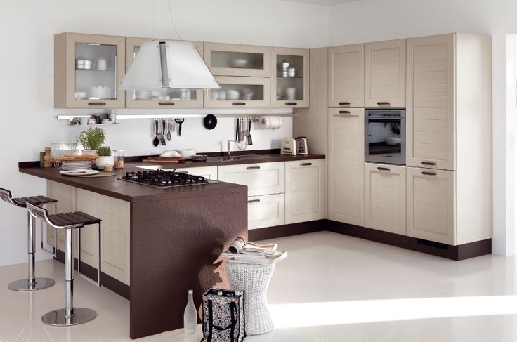 Cucina moderna con penisola cucine lube pinterest cucina - Cucine ikea con penisola ...