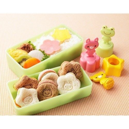 sandwich imprint/cutter combo tool ~ 3 different shapes all with animal faces