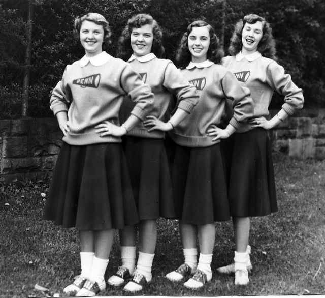 Cheerleader costume, College cheer, Cheerleading uniforms