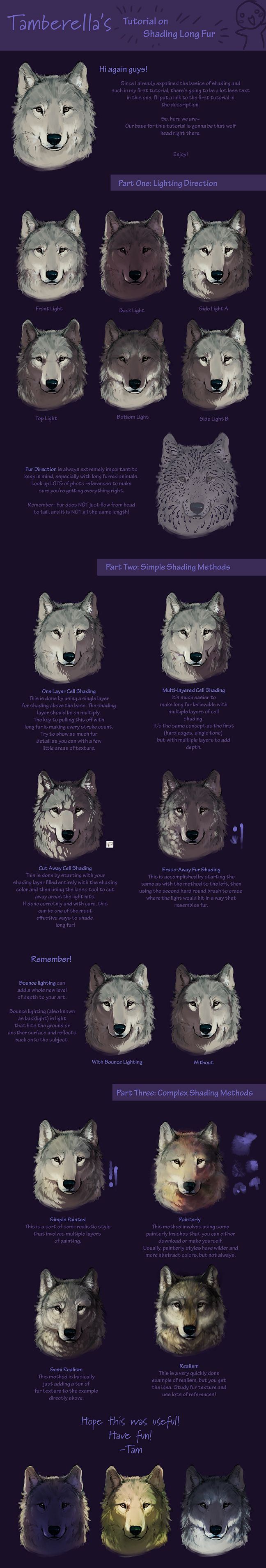Long Fur Shading Tutorial by *TamberElla on deviantART