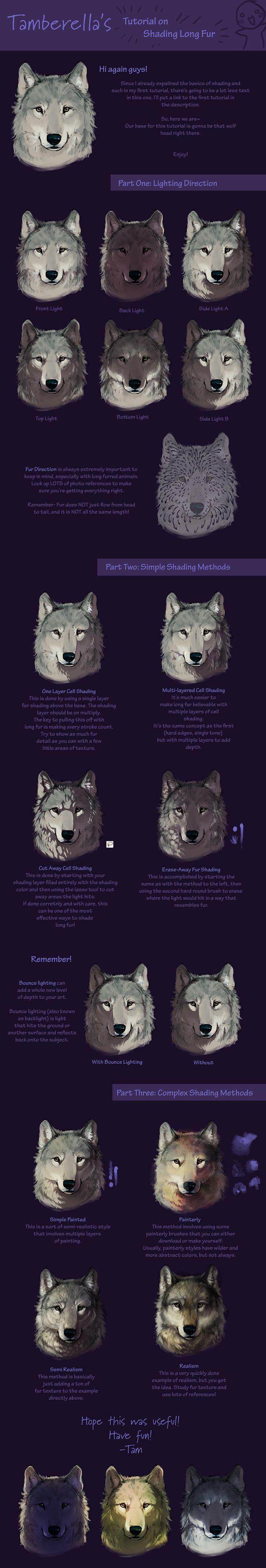 Long Fur Shading Tutorial by *TamberElla on deviantART
