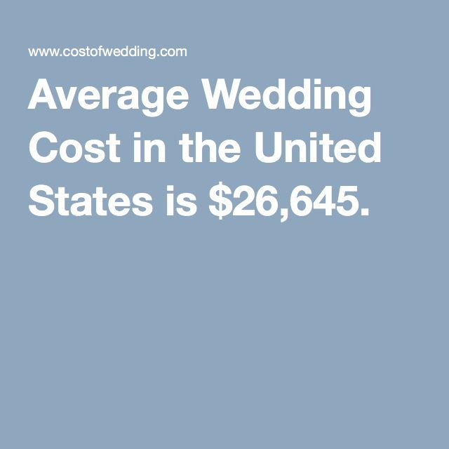 average wedding cost in the united states is 26645 see how much yours is going