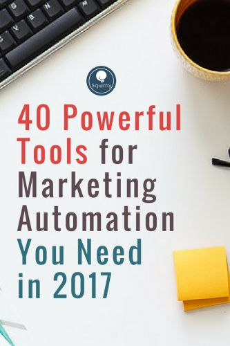 63% of the very successful marketers use marketing automation tools on a regular basis. Here are our top 40 picks for 2017.