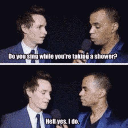 When he confessed he was straight up the best roommate ever. | Community Post: 17 Times Eddie Redmayne Was Bae