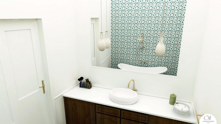 #Bathroom 3D E-Design (Visualisation) by Oli Interior Design Studio #vintage   #edesigner