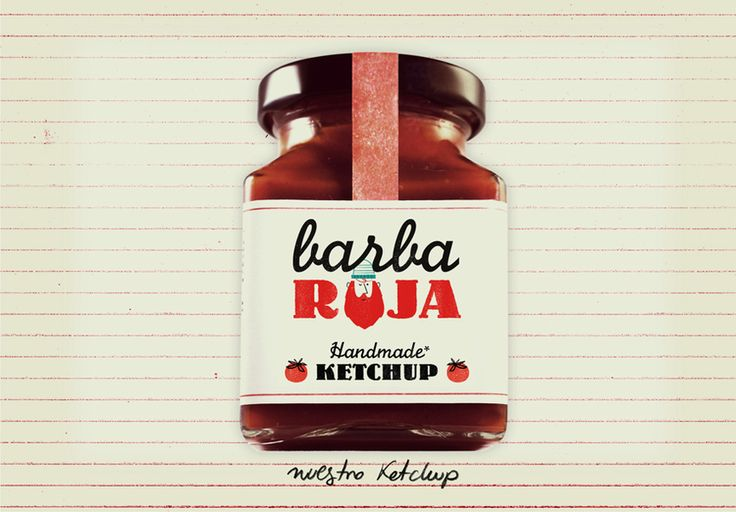 Barba Roja_ Handmade Ketchup - Lalalimola #illustration #branding #packaging