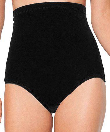 Look at this #zulilyfind! Black Tummy-Control Bikini Bottoms #zulilyfinds