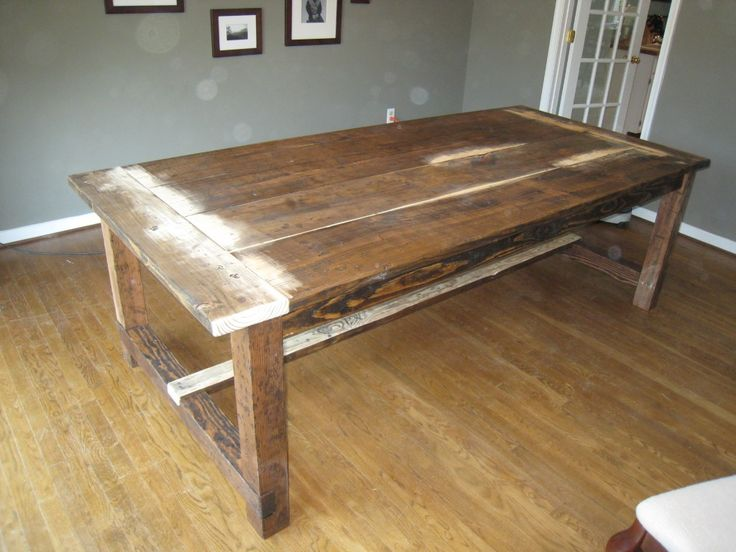 Diy harvest table that alex is going to make me home for Modern farmhouse table plans