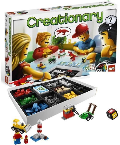 Lego Creationary - (Ages 7+, 3-8 players). Helpful reviews for the best family games and toys for kids, teens and adults. Gifts for Christmas, birthday, any occasion.