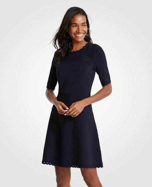 d1948ed43a Ann Taylor Cutout Flare Sweater Dress  womensfashionover40dresses ...