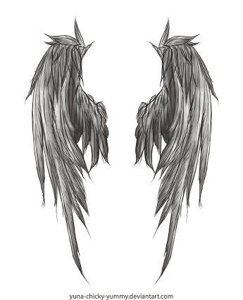 torn angel wings tattoo - Google Search