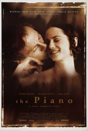 The Piano is a 1993 drama film about a mute pianist and her daughter, set during the mid-19th century in a rainy, muddy frontier backwater on the west coast of New Zealand. The film was written and directed by Jane Campion, and stars Holly Hunter, Harvey Keitel, Sam Neill, and Anna Paquin. It features a score for the piano by Michael Nyman which became a bestselling soundtrack album.