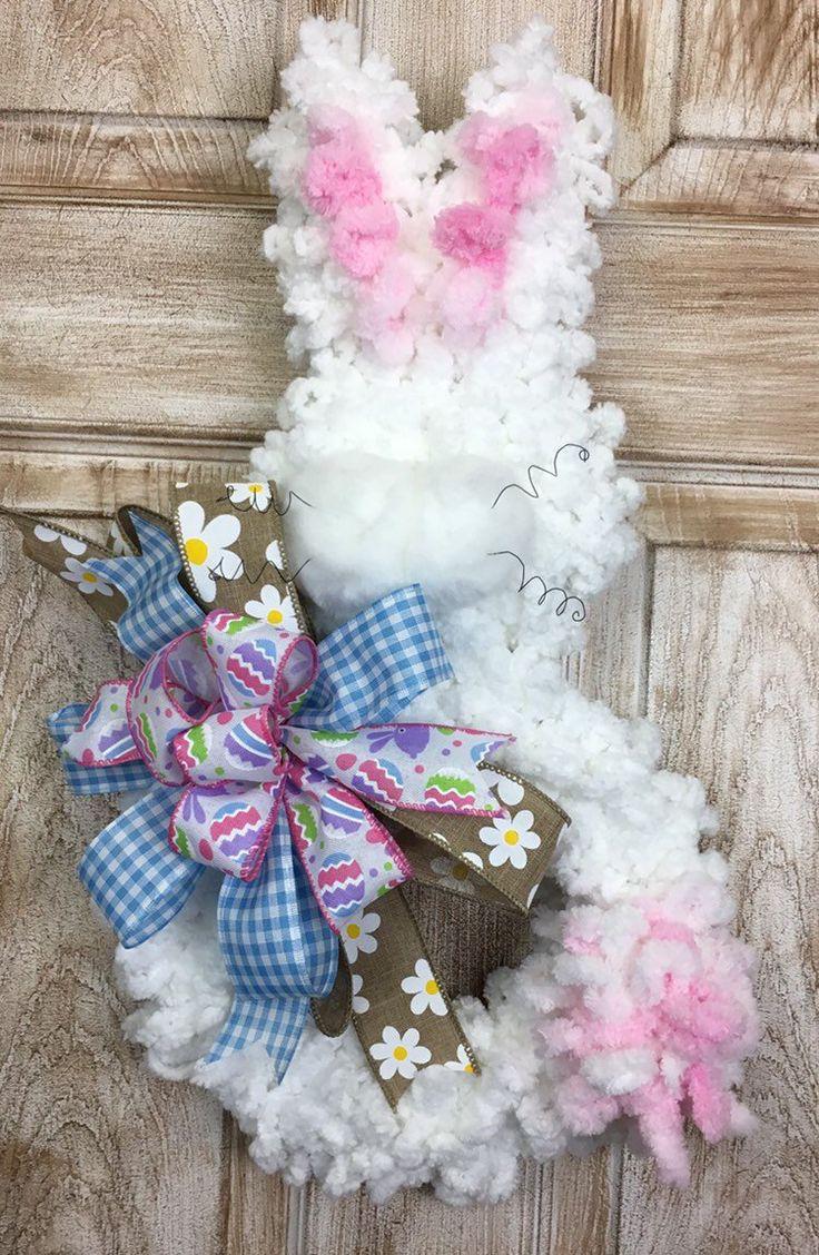 Bunny wreath, Easter wreath, spring decor Easter wreaths
