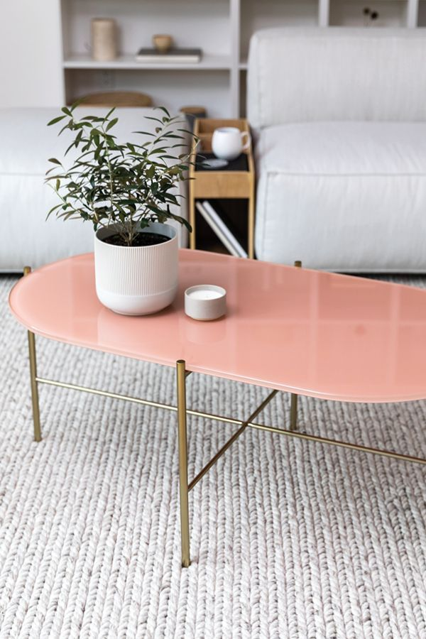 Silicus Pink Oblong Coffee Table Coffee Table Luxury Furniture