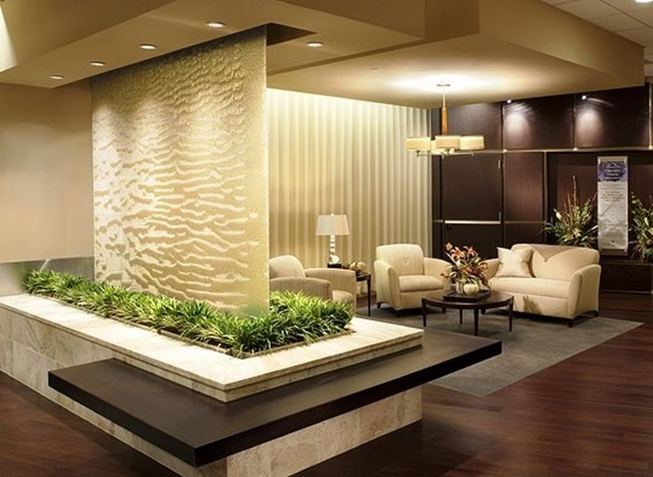 Great Indoor Glass Waterfall Design As Element Of Decoration