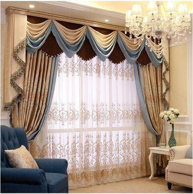 Iraq Mantle Nepalese Relief Simple European #Curtains Living Room / Bedroom  Upscale Luxury Custom Made