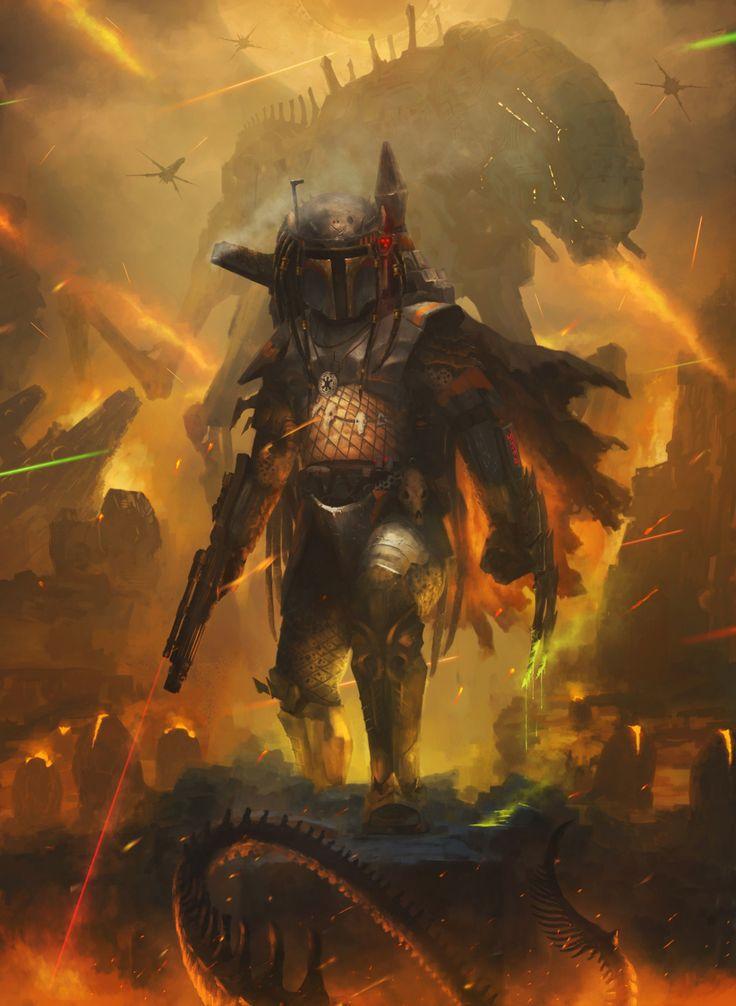 "spyrale: ""  Rise of Fett the Predator by Rostyslav Zagornov """