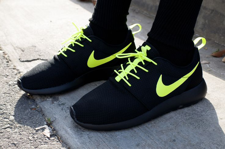 Neon and black Nike runners