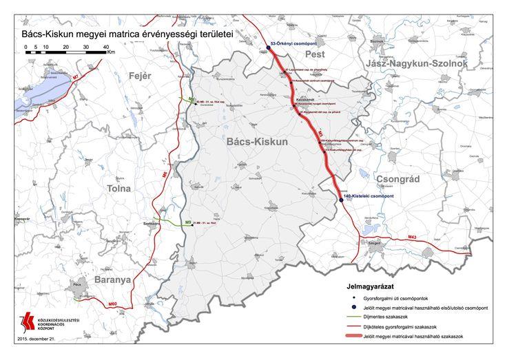 Bács-Kiskun megye fizetős utak
