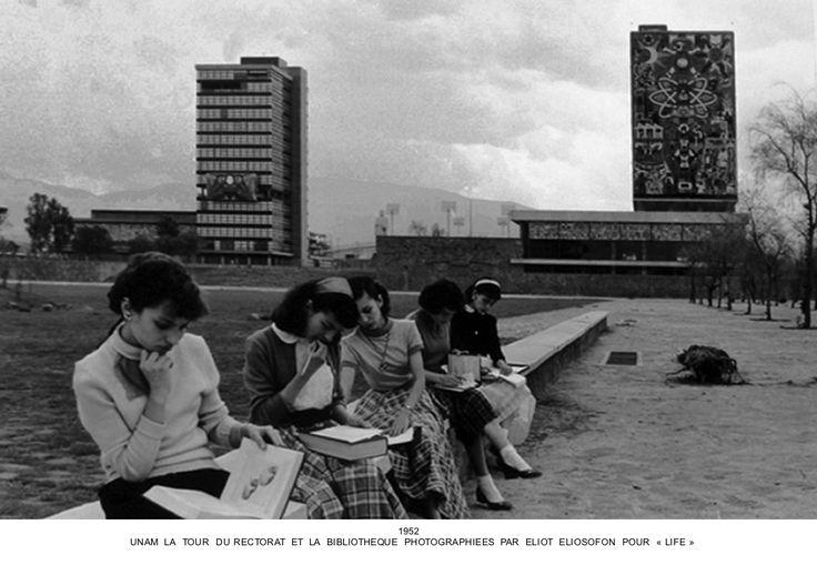 UNAM : MARIO PANI ET ENRIQUE DEL MORAL CITÉ UNIVERSITAIRE DE MEXICO