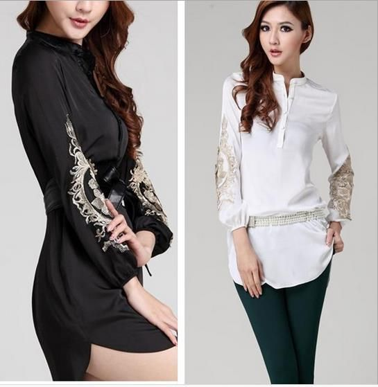 Image result for embroidery dress shirt plus size