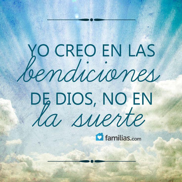 Yo creo en las bendiciones de Dios