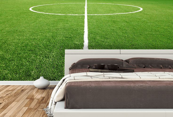 Football Pitch Wall Mural Wallpaper: Football Pitch Centre Circle Sports Wall Mural Https://www
