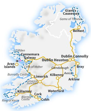 Railtours Ireland First Class! - Train and Railtours in Ireland - Quality Bed & Breakfast and hotel accommodation