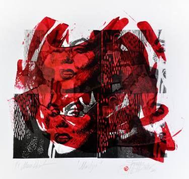 "Saatchi Art Artist Tezcan Bahar; Printmaking, ""Marely Series - 4 - Limited Edition 1 of 1"" #art"